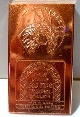 Half Pound 2D Liberty 99.9% Pure Copper Bullion Bar