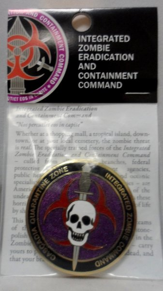 Cascadia Quarantine Zone Comander's Award Bronze w/Enamel 44MM Coin