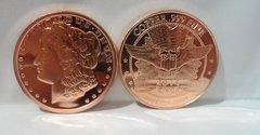 1OZ Morgan .999 Fine Copper Bullion Round