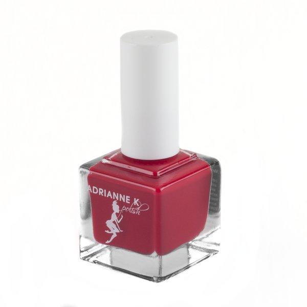 ADRIANNE K Nontoxic 5-Free Bright Red natural organic nail polish ...