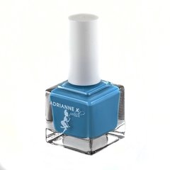 """ADRIANNE K Non-toxic 7 Free Nail Polish, Turquoise Blue, """"Tutu"""" Vegan, Pregnancy-safe Clean & Cruelty Free"""