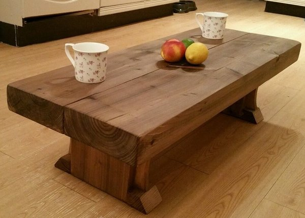 80cm length HEAVY DUTY SOLID SLEEPER COFFEE TABLE CUSTOM