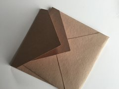 6 inch Square Envelopes, Euro Style for Wedding Invitation - Buff, Sand colored cotton envelope pack