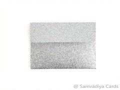 A1/ 4 Bar Premium Envelopes - made from Glitter Silver Paper, for Special Commercial, Wedding and Corporate Stationery