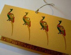 Indian Wedding Invitation & RSVP Cards - Mayur (Peacock) on Gold