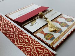 Indian Wedding Invitation & RSVP Card - 'The Cranes'