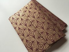 A1/ 4 Bar Envelopes for Indian Wedding Invitation RSVP card  - Burgundy and Gold Leaf print (50 Pack)