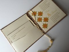 Indian Wedding Invitation & RSVP Card - 'The Rangoli with Bollywood colors', from Samvadiya Cards