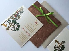 Indian Wedding Invitation & RSVP card - Vrinda Van the Enchanted Forest with Deer