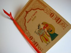 Indian Wedding Program Booklet Radha Krishna Toran