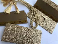 Gold embossed with floral design Money Envelope - Gift Box