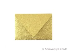 A1/ 4 Bar Euro Style Premium Envelopes - made from Glitter Gold Paper, for Special Commercial, Wedding and Corporate Stationery