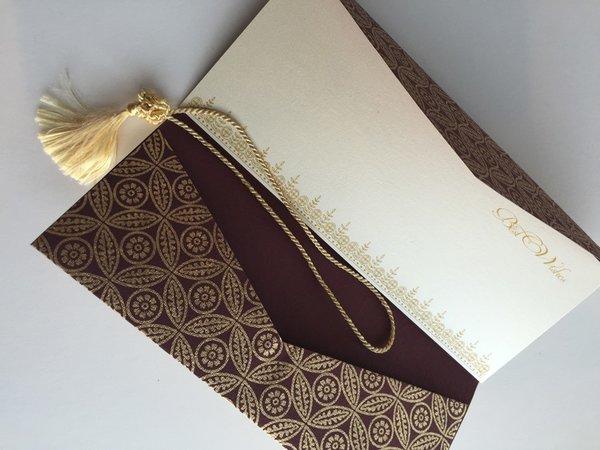 Burgundy Gold Money Holder Money Envelope Wedding Guest
