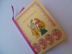 Indian Wedding Program Booklet Radha Krishna Jaipur Arch