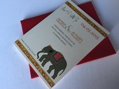 Indian Elephant Save the Dates