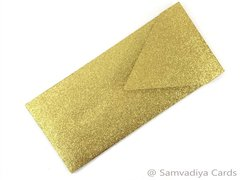 #10 Premium Envelopes - made from Glitter Gold Paper, for Special Commercial, Wedding and Corporate Stationery