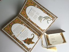 Indian Wedding Invitation and RSVP Card - 'Jaipur Arch with Ganesha' from Samvadiya
