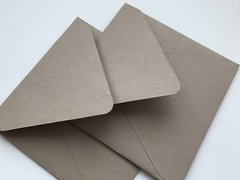 7 inch Square Envelopes, Euro Style for Wedding Invitation and Social Communication - Buff, Sand colored cotton envelope (Pack of 25 envelopes)