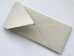 #10 size Envelopes, Euro Style for Social, Corporate use or for Wedding Invitation - Cream/ Ivory colored cotton envelope (25 Pack)