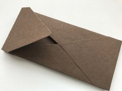 #10 size Envelopes, Euro Style for Social, Corporate use or for Wedding Invitation - Chocolate colored cotton envelope (25 Pack)