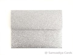 A2 Premium Envelopes - made from Glitter Silver Paper, for Special Commercial, Wedding and Corporate Stationery