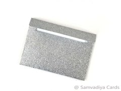 A7 Premium Envelopes - made from Glitter Silver Paper, for Special Commercial, Wedding and Corporate Stationery