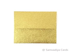 A2 Premium Envelopes - made from Glitter Gold Paper, for Special Commercial, Wedding and Corporate Stationery