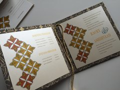 Indian Wedding Invitation & RSVP Card - 'The Rangoli Inlay', from Samvadiya Cards