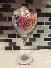 Fireworks III Wine Glass