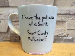 Saint Cunty McFuckoff Coffee Mug (Handpainted)