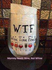 W.T.F. Wine Glass