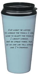 Travel Mug Serenity Prayer Eco-Tumbler - Blue