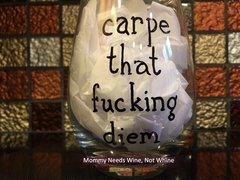 Carpe That F*cking Diem Wine Glass