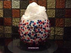 Patriotic as Fuck Confetti Dot Wine Glass