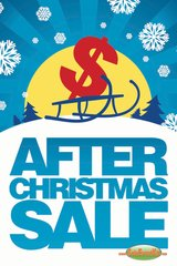 After Christmas Sale Glossy Poster