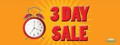 3 Day Sale Vinyl Banner - 3' x 8'