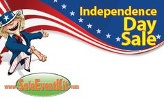 4th of July / Independence Day Sale Employee Name Tags (40 pack)