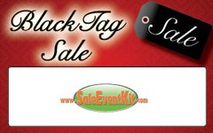 Black Tag Sale Employee Name Tags (40 pack)