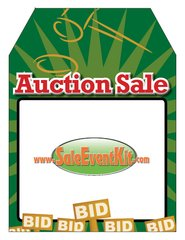 Auction Sale Rear View Mirror Hang Tag (50 Pack)