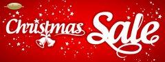 Christmas Sale Vinyl Banner - 3' x 8'