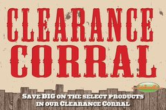 Clearance Corral Glossy Poster