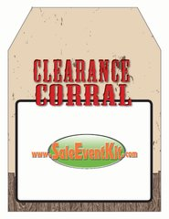 Clearance Corral Rear View Mirror Hang Tag (50 Pack)