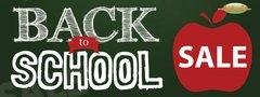 Back to School Sale Vinyl Banner - 3' x 8'