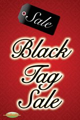 Black Tag Sale Glossy Poster