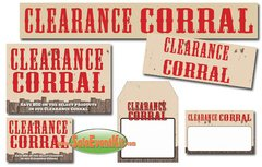 Clearance Corral Event Kit - $150-$899