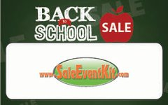 Back to School Sale Employee Name Tags (40 pack)