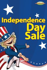 4th of July Sale Event Glossy Poster