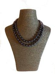 Lilac Swarovski Double Strand Pearl Necklace