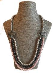 Swarovski Triple Strand Long Necklace