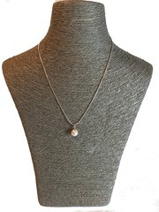 White Pearl Pendant (8-9mm) with Silver Chain